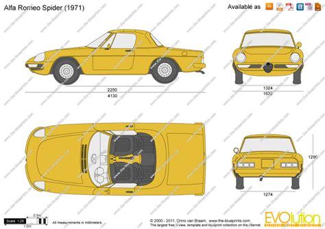The Blueprints.com   Vector Drawing   Alfa Romeo Spider