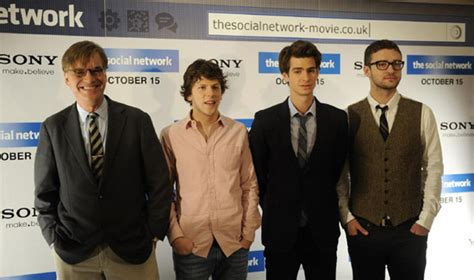 the social cast cast members promote the social network in london