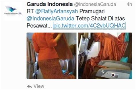 video pramugari terlau tersebar inspiratif foto pramugari garuda indonesia salat di pesawat