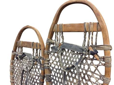 Handmade Snowshoes - antique handmade trapper snowshoes vintagewinter