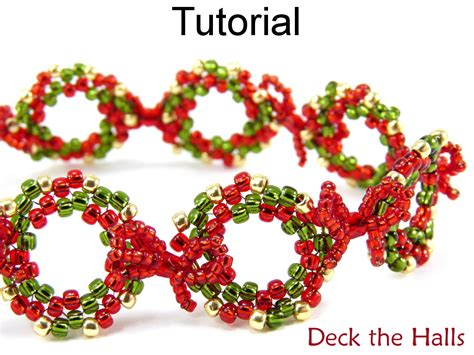 patterns christmas jewelry beading tutorial pattern bracelet christmas holiday