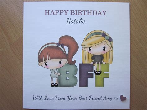 Best Handmade Birthday Cards For Friends - personalised handmade or best friends forever