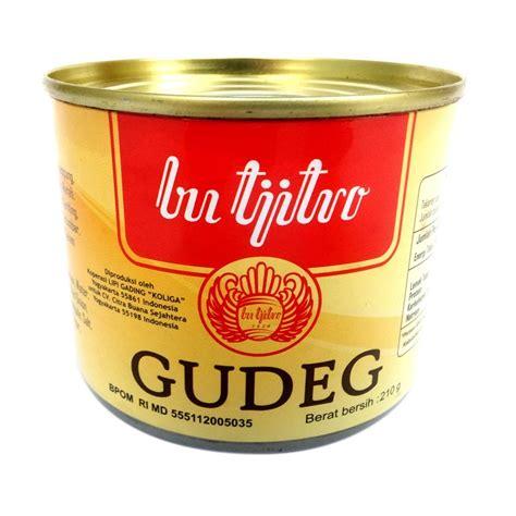 gudeg kaleng bu tjitro paket ekonomis cek harga khas jogja gudeg kaleng bu tjitro 210 gram