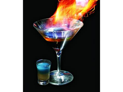 Lamborghini Cocktail Flaming Lamborghini