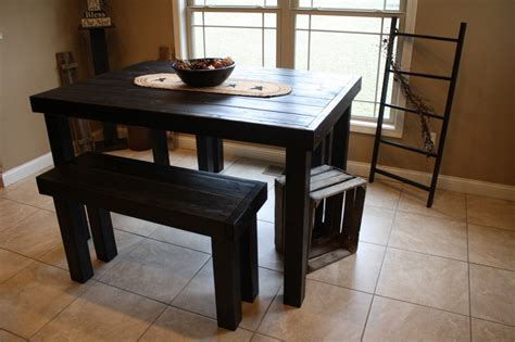 bench style kitchen tables unique functional diy kitchen table