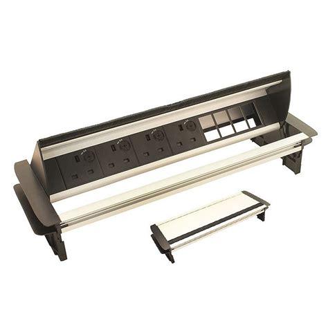 desk power horizontal in desk power dock