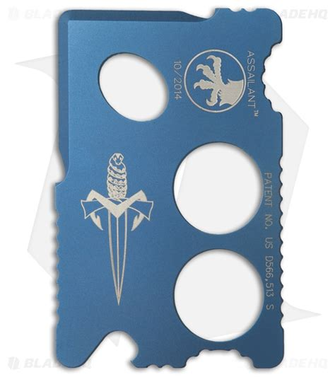 microtech assailant microtech assailant credit card knife blue anodized