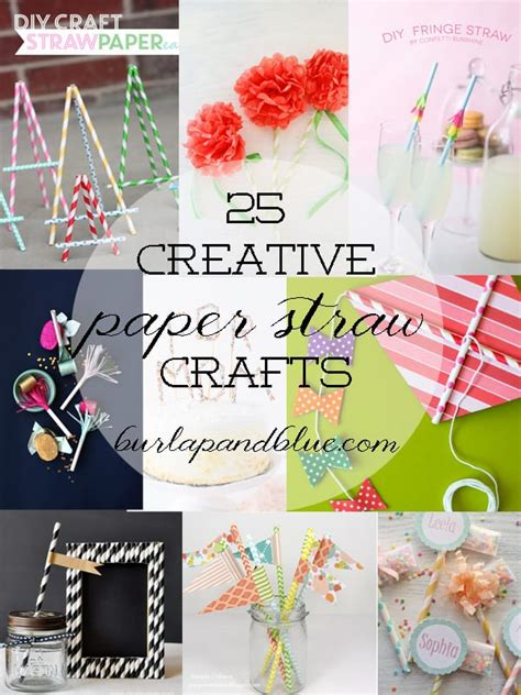 Paper Straw Craft Ideas - diy paper straw crafts