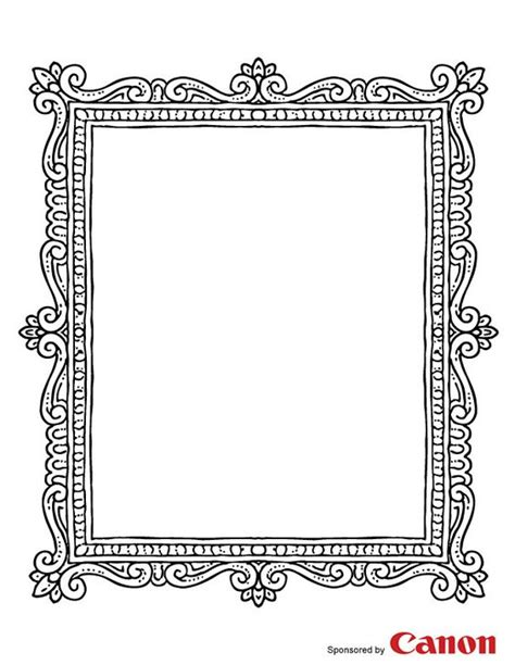 free printable picture frame templates craft templates for picture frame 2 coloring free