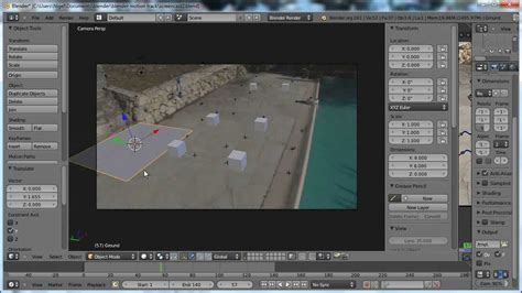 blender tutorial tracking camera blender 2 61 motion tracking youtube