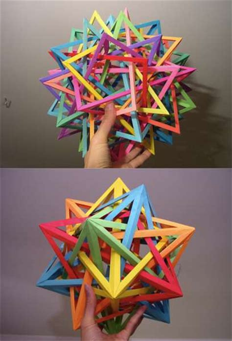 Daniel Kwan Origami - interlocking geometric paper origami modulars by