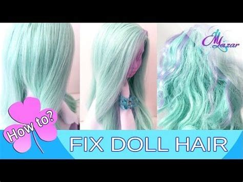 jointed doll wig tutorial self adhesive doll wig tutorial part 2 gluing the hair
