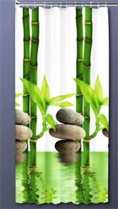 Badewanne Vorhang 578 by Textil Duschvorhang 180x200cm Bambus Mit Stein Wei 223 Gr 252 N