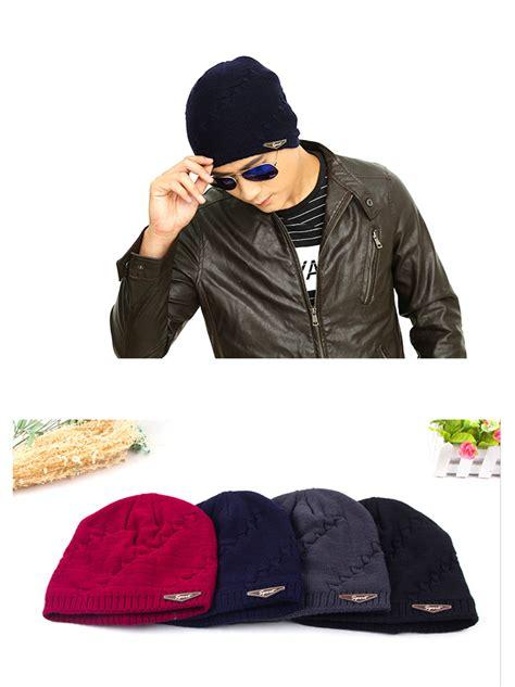 Topi Cing Kupluk Wool Winter Hat Beanie topi kupluk rajut wool velvet musim dingin black