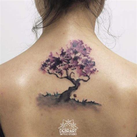 watercolor back tattoo back tree tattoo watercolor best tattoo ideas gallery