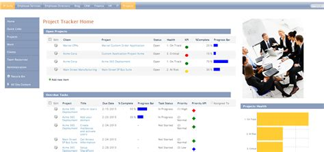 sharepoint project tracking template project management tracker for office 365 and sharepoint