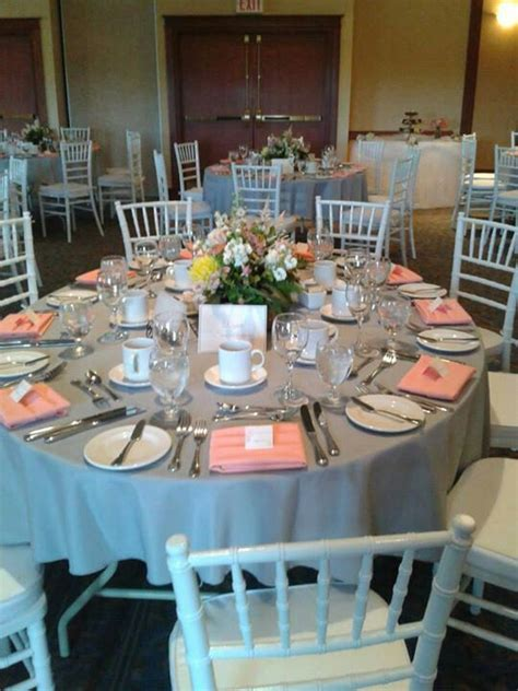 grey  coral wedding ideas grey wedding decor