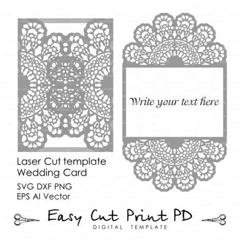 5x7 Card Ai Template by Lace Crochet Doily Wedding Invitation 5x7 Quot Rustic Pattern