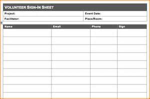 volunteer sign up form template 10 volunteer sign up sheet template