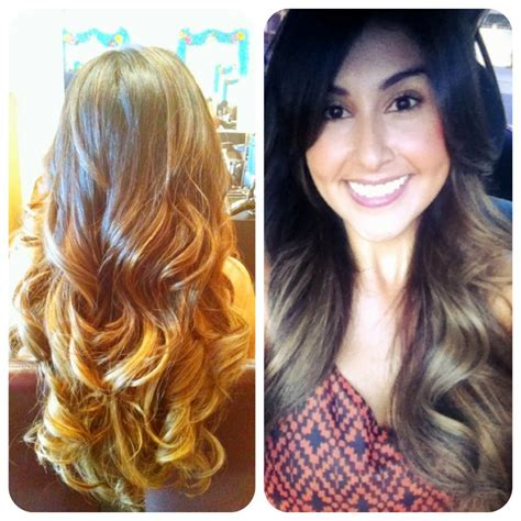 ombre honey highlights blended ombre with honey highlights hair and make up