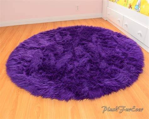 Throw Rugs Royal Purple 60 Quot Faux Fur Rug Nursery Area Throw Rug