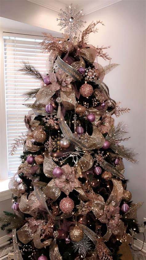 xmas gold decor rose gold gold and silver christmas tree christmas