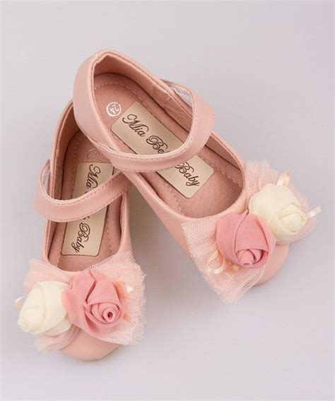 toddler ballet flat shoes look at this pink flower bow ballet flat on zulily