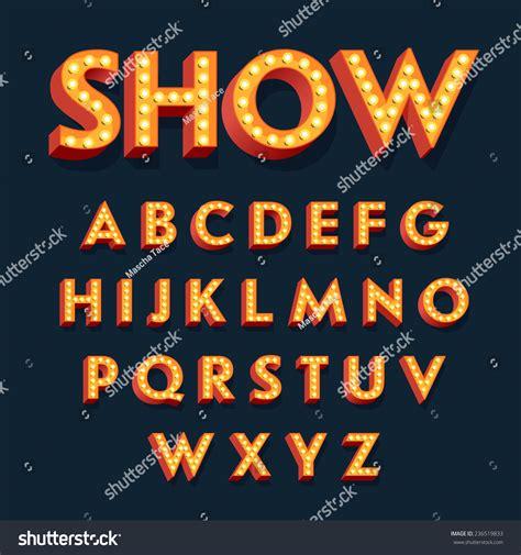 html tutorial marquee effects vector flat design retro volumetric signboard stock vector