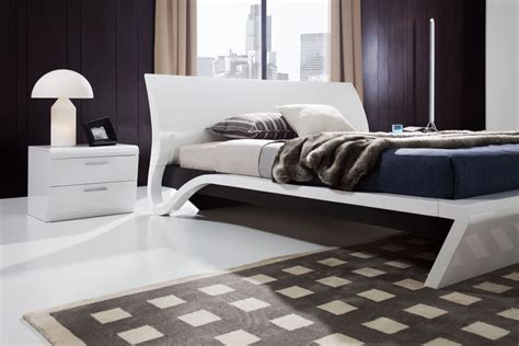 trendy beds trendy platform bed frame design and white lacquer