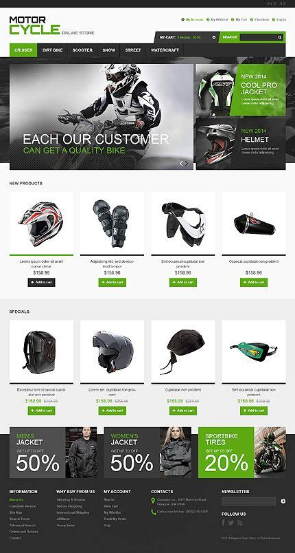 templates bootstrap store template 46436 motorcycle store responsive magento
