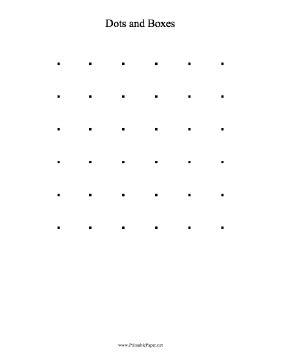 dot to dot box game printable printable dots and boxes game