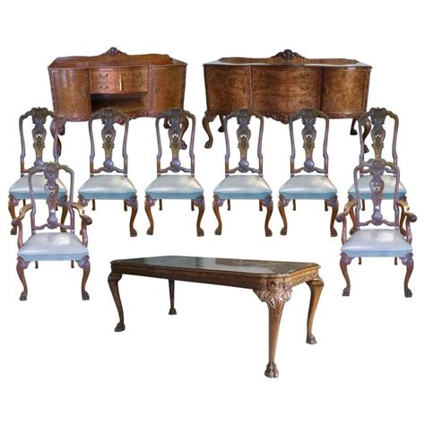 queen anne dining room sets exceptional quality 1920s burr walnut queen anne style