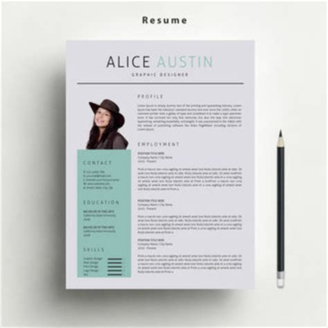 matching cover letter and resume templates resume template with free matching cover from marufstudio on etsy