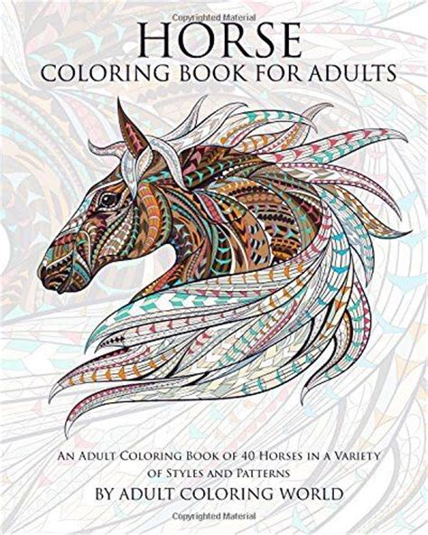 the coloring book for adults you ve probably never colored it coloring fantast book of 40 horses animal