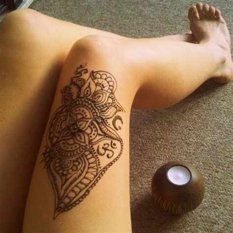 henna thigh tattoo tumblr henna on thigh makedes