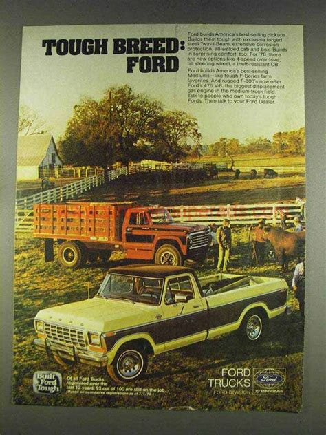 toughest breeds 1978 ford trucks ad tough breed