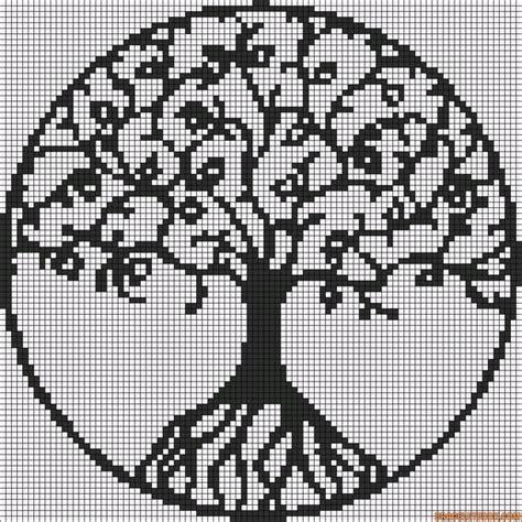 life pattern en español tree of life crochet pinterest steken armbanden en
