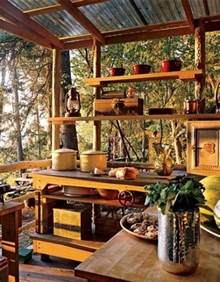 natural view in rustic small kitchen with wooden countertop and canopy dweef com bright and