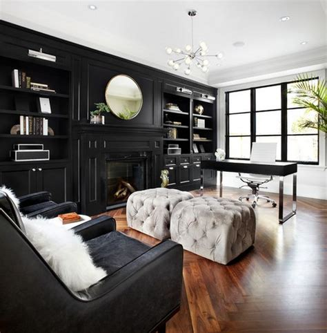 black and white home office decorating ideas color design ideas with black furniture