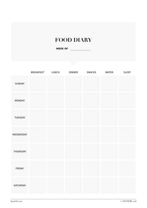 food diaries templates food diary template work out food diary