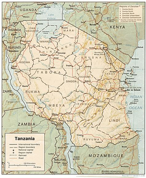 map of tanzania free tanzania maps