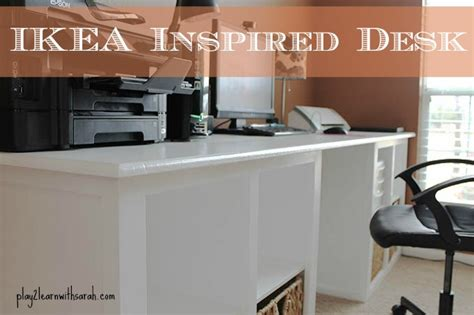 Diy Desk Build Inspired By Diy Ikea Inspired Desk And Thyme