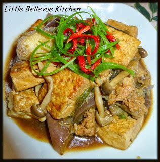little bellevue kitchen: braised tofu with eggplant and