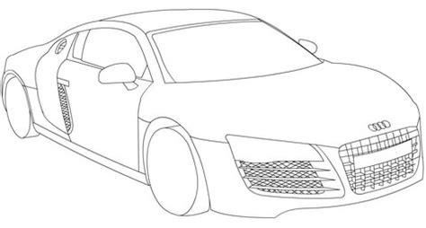 Asphalt 8 Coloring Pages by Coloriage Audi R8 Coloriages 224 Imprimer Gratuits