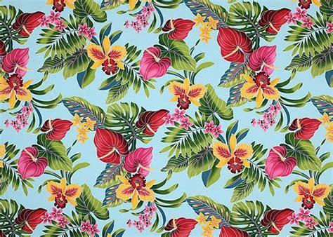 hawaiian pattern material 80 eu eu tropical hawaiian plumeria anthurium flowrers