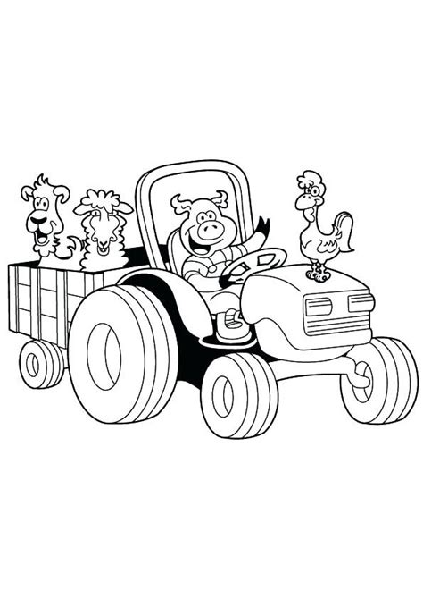 coloring pages animated farm tractor coloring page