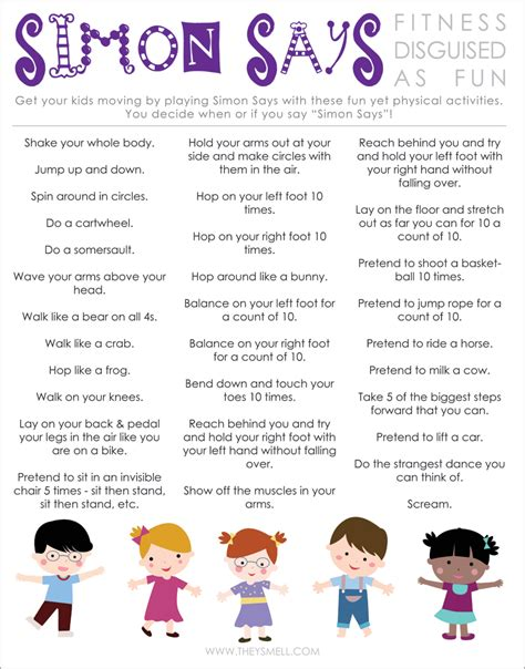 themes for english play free printable to help keep kids healthy active free