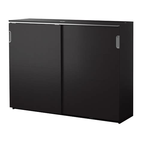 Sliding Doors For Cabinets Galant Cabinet With Sliding Doors Black Brown Ikea