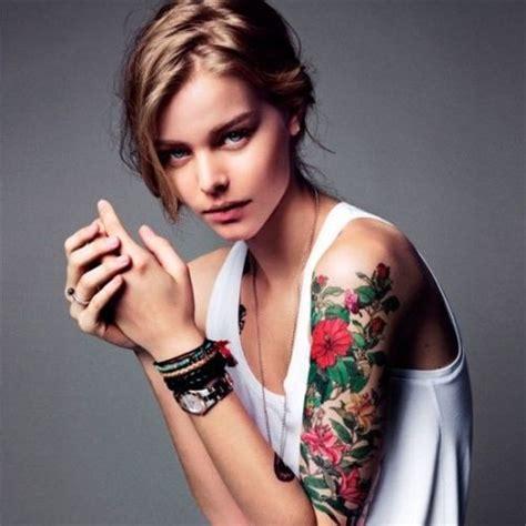 tattoo sleeve vine red vine flower on half sleeve tattoo