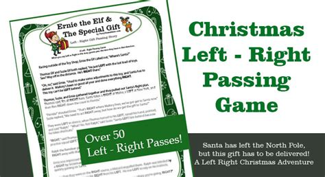 ernie the elfs gift passing game left right gift exchange